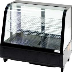 Witryna ekspozycyjna 100 l czarna oświetlenie LED