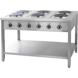 Kuchnia elektryczna, 6-płytowa, 15.6 kW