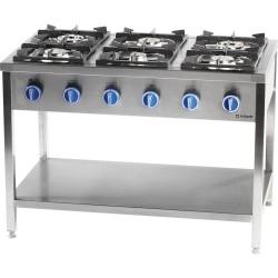 Kuchnia gazowa, 6-palnikowa, 700 mm, 32.5 kW, G30