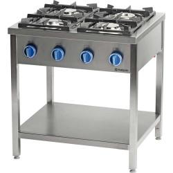 Kuchnia gazowa wolnostojąca 900 - 4 palnikowa z półką 20,5kW - G30 (propan-butan)