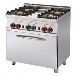 CF4 - 68 GEM Kuchnia gazowa zpiekarnikiem elektrycznym CF4 - 68 GEM, RM GASTRO, 00000669