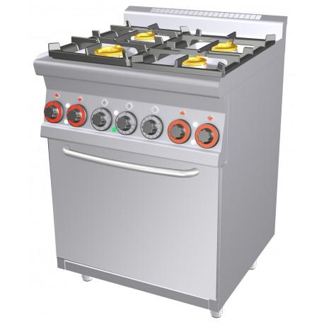Cfm4 66 Gem Kuchnia Gazowa Z Piekarnikiem Elektrycznym Cfm4 66 Gem Rm Gastro 00000670 Gastronet