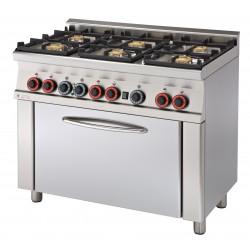 CF6 - 610 GEM Kuchnia gazowa zpiekarnikiem elektrycznym CF6 - 610 GEM, RM GASTRO, 00000671