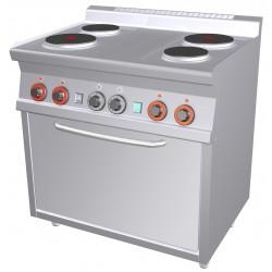 Kuchnia elektryczna z piekarnikiem CF4 - 68 ET, RM GASTRO, 00000666
