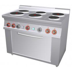 Kuchnia elektryczna z piekarnikiem CF6 - 610 ET, RM GASTRO, 00000668