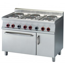 Kuchnia elektryczna zpiekarnikiem CFV6 - 712 ETV, RM GASTRO, 00008743