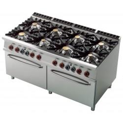 CF8 - 916 GE Kuchnia gazowa zpiekarnikiem elektrycznym CF8 - 916 GE, RM GASTRO, 00001088