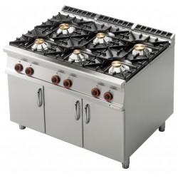 Kuchnia gazowa zszafką PC - 912 G, RM GASTRO, 00001075