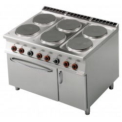 CF6 - 912 ETV Kuchnia elektryczna zpiekarnikiem iszafką CF6 - 912 ETV, RM GASTRO, 00001027