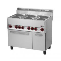 Kuchnia elektryczna zpiekarnikiem SPT 90 ELS, REDFOX, 00000538