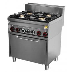 CF4 - 8 GEM Kuchnia gazowa z piekarnikiem elektr. CF4 - 8 GEM, REDFOX, 00000801