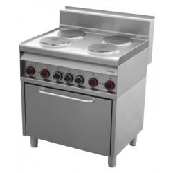 CF4 - 8 ET/S Kuchnia elektryczna z piekarnikiem elektr. CF4 - 8 ET/S, REDFOX, 00000798