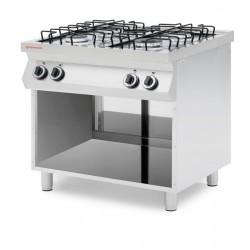 Kuchnia gazowa 4-palnikowa na podstawie otwartej