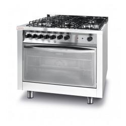 Kuchnia gazowa 5-palnikowa z konwekcyjnym piekarnikiem elektrycznym z grillem
