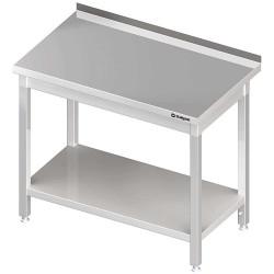 Stół przyścienny z półką 1400x600x850 mm skręcany