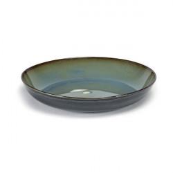 TERRES DE REVESR misty grey/dark blue talerz na pastę 23.5cm 4/2