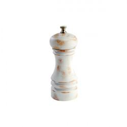 VINTAGE młynek do soli 15cm biały