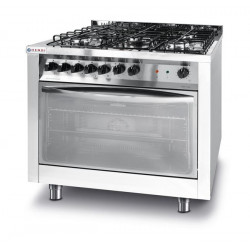 Kuchnia gazowa 5-palnikowa Profi Line z konwekcyjnym piekarnikiem elektrycznym i z grillem