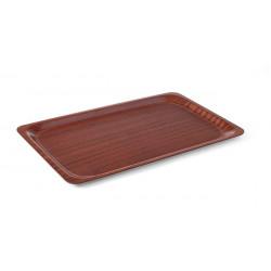 Taca antypoślizgowa drewniana - prostokątna 230x160
