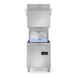 Zmywarka kapturowa do naczyń 50x50 - sterowanie manualne Z pompą spustową oraz dozownikiem detergentu