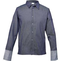 Bluza kucharska z jeansu, niebieska, rozmiar M