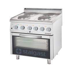 Kuchnia elektryczna, 4-polowa z piekarnikiem elektrycznym, 10.4+7 kW