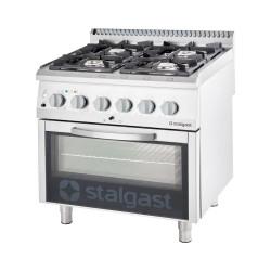 Kuchnia gazowa 4 palnikowa z piekarnikiem elektrycznym 20.5kW (zestaw) - G30