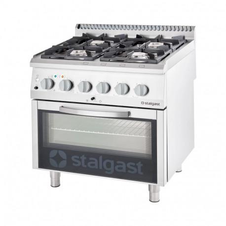 Kuchnia gazowa 4 palnikowa wym. 800x700x850 z piekarnikiem elektrycznym 20,5+7 kW (statyczny) - G30