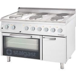Kuchnia elektryczna 6 palnikowa wym. 1200x700x850 z piekarnikiem elektrycznym 15,6+7 kW (statyczny)
