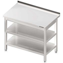Stół przyścienny z 2-ma półkami 1300x600x850 mm skręcany