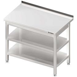 Stół przyścienny z 2-ma półkami 1500x600x850 mm skręcany