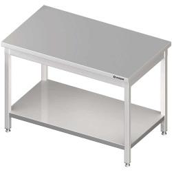 Stół centralny z półką 1400x800x850 mm skręcany