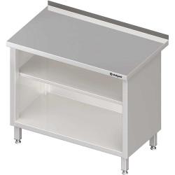 Stół przyścienny, zabudowany z 2-ma półkami 1300x600x850 mm