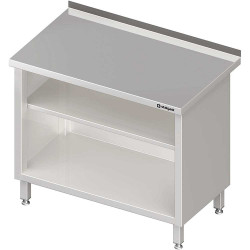 Stół przyścienny, zabudowany z 2-ma półkami 1400x600x850 mm