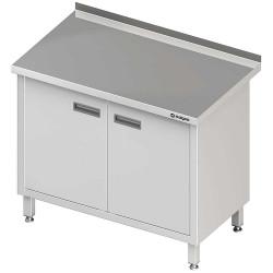 Stół przyścienny z drzwiami skrzydłowymi 1100x700x850 mm