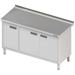Stół przyścienny z drzwiami skrzydłowymi 1400x600x850 mm