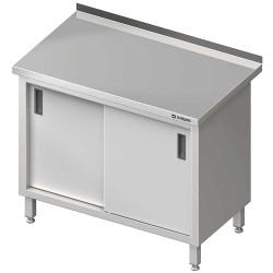 Stół przyścienny z drzwiami suwanymi 1300x600x850 mm