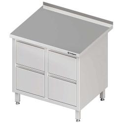 Stół przyścienny z blokiem czterech szuflad 840x600x850 mm