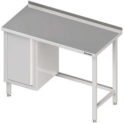 Stół przyścienny z szafką (L),bez półki 1300x700x850 mm