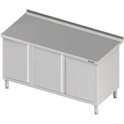 Stół przyścienny z szafką (L),drzwi skrzydłowe 1500x700x850 mm