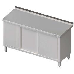 Stół przyścienny z szafką (L),drzwi suwane 1300x600x850 mm