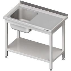 Stół ze zlewem 1-kom.(L),z półką 1200x600x850 mm skręcany