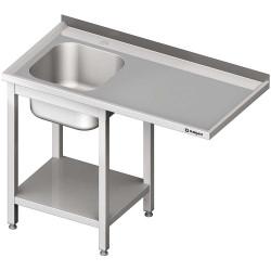 Stół ze zlewem 1-kom.(L) i miejscem na lodówkę lub zmywarkę 1300x600x900 mm skręcany