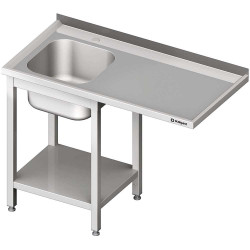 Stół ze zlewem 1-kom.(L) i miejscem na lodówkę lub zmywarkę 1300x700x900 mm skręcany