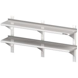 Półka wisząca, przestawna,podwójna 1500x300x660 mm