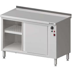 Stół przyścienny, z szafką grzewczą,drzwi suwane 1500x700x850 mm
