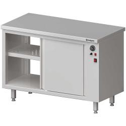 Stół przelotowy, z szafką grzewczą,drzwi suwane 1300x600x850 mm