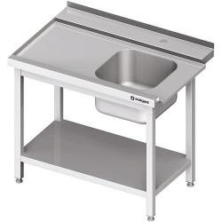 Stół załadowczy(L) 1-kom. z półką do zmywarki SILANOS 1300x760x900 mm skręcany