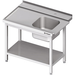 Stół załadowczy(L) 1-kom. z półką do zmywarki STALGAST 1000x750x880 mm skręcany