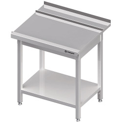 Stół wyładowczy(P), z półką do zmywarki STALGAST 800x750x880 mm skręcany